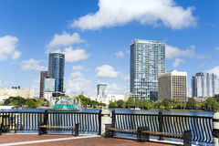 Park Eola and Orlando downtown. Royalty Free Stock Photography