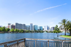 Park Eola and Orlando downtown. Stock Photography