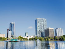 Park Eola and Orlando downtown. Stock Photo