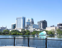 Park Eola and Orlando downtown. Royalty Free Stock Image