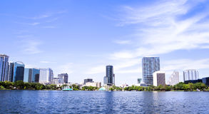 Park Eola and Orlando downtown. Royalty Free Stock Photos