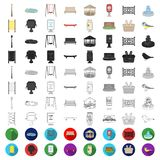 Park, equipment cartoon icons in set collection for design. Walking and rest vector symbol stock web illustration. Park, equipment cartoon icons in set vector illustration