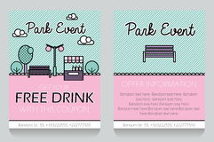 Park event themed gift voucher template Stock Image
