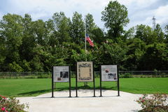 Park Exhibit at the Freedom Park, Helena Arkansas. One of more than 25 Civil War interpretive sites located throughout historic Helena and Phillips County. The Royalty Free Stock Image