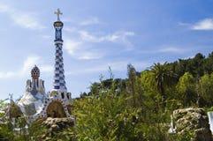 park för barcelona ellG Royaltyfri Foto