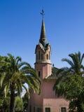 park för barcelona guellhus Arkivbild