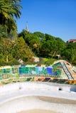 park för modernism för barcelona gaudiguell arkivbild