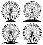 Vector park ferris wheels Royalty Free Stock Image