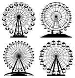 Vector park ferris wheels Royalty Free Stock Image