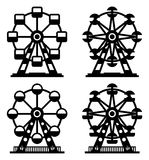 Park ferris wheels, vector  Stock Image