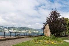 Park in Ferrol, Galicia, Spain Stock Image
