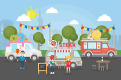 Park food festival. Royalty Free Stock Photography