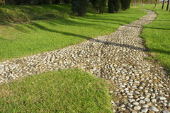 Park footpath. The cobbled path in the park Royalty Free Stock Image