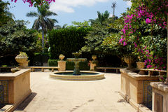 Park fountain Palm beach, Florida. High resolution image Royalty Free Stock Photos