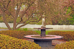 Park fountain and Spring colors upstate NY Stock Photography