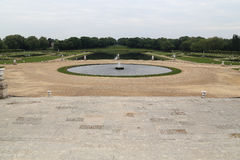 Park with Fountains in Chantilly Royalty Free Stock Image