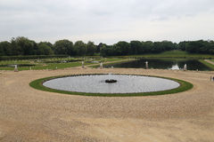 Park with Fountains in Chantilly Royalty Free Stock Photography