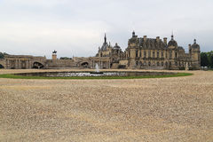 Park with Fountains in Chantilly Royalty Free Stock Images