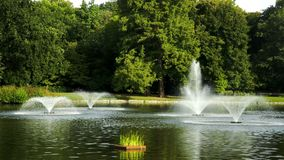 Park with fountains Royalty Free Stock Photo