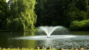 Park with fountains Stock Photography