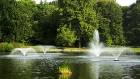 Park with fountains Royalty Free Stock Photos