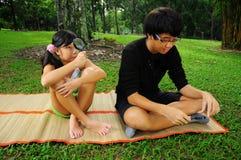 park för 6 barn Fotografering för Bildbyråer