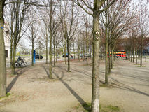 The park in front of German Chancellery, Berlin Royalty Free Stock Photography
