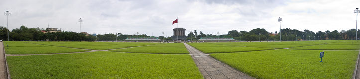 Park in front of Ho Chi Minh mausoleum Stock Photography