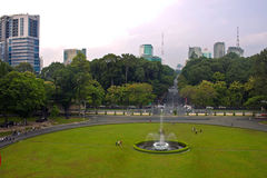 Park in front of Reunification Palace Royalty Free Stock Photo