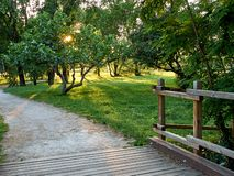 Parks. Park full of greenery in the suburbs of Milan, Cernusco sul Naviglio stock photography