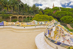 Park Güell in Barcelona Stock Photography