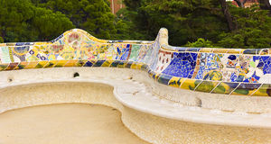Park Güell in Barcelona Royalty Free Stock Photo