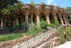 Park Güell designed by Catalan architect Antoni Güell in Barcelona, Spain. Royalty Free Stock Image