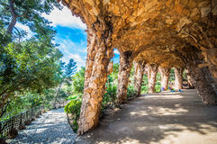 Park Güell Royaltyfri Fotografi