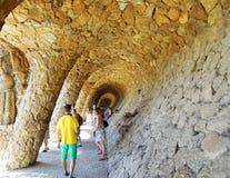 Park Güell Arkivfoto