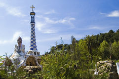 Park Güell, Barcelona. Famous architecture by Antoni Gaudi at Park Güell, Barcelona Royalty Free Stock Photo