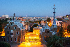 Park Guell. In Barcelona designed by Antoni Gaud Royalty Free Stock Images