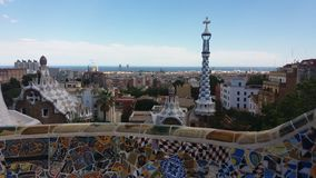 Park Güell and Barcelona Royalty Free Stock Image