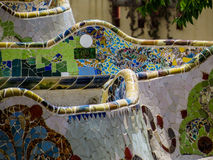 Park Güell, mosaic work Royalty Free Stock Photo