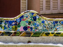Park Güell, mosaic work Stock Photography