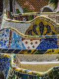Park Güell, mosaic work Royalty Free Stock Photography