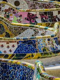 Park Güell, mosaic work Royalty Free Stock Photos