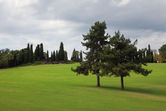 A park-garden Sigurta in Italy. Royalty Free Stock Photography