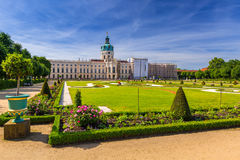 The park and gardens of Charlottenburg in Berlin Royalty Free Stock Images