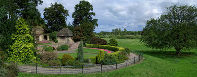 Park And Gardens Panorama Royalty Free Stock Photography