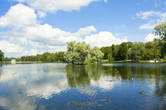 Park in Gatchina, Russia Stock Photos