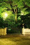 Gate at Night Royalty Free Stock Photography