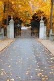 Park gates Stock Image