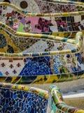 Park Güell, mosaic work Royalty Free Stock Photos