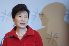Park Geun-hye Arkivfoto